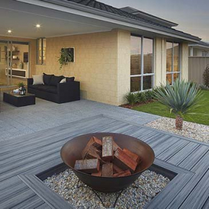 Fire Pit and Decking Area